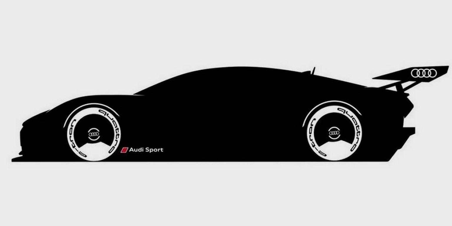 Audi показала навидео виртуальный электрический суперкар
