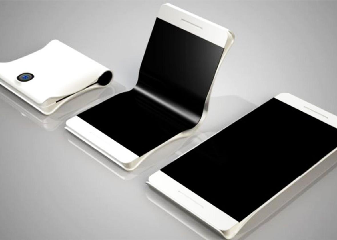 Самсунг готовит квыпуску 1-ый складной смартфон