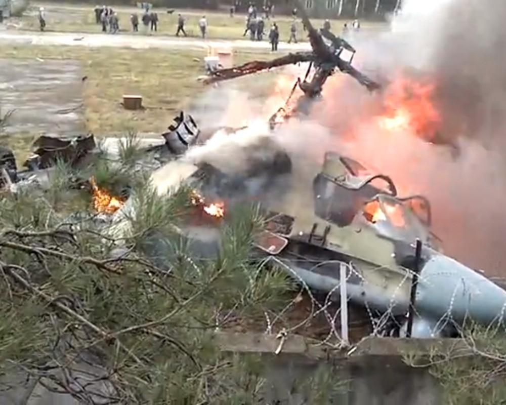 ВПолтавской области упал личный вертолет