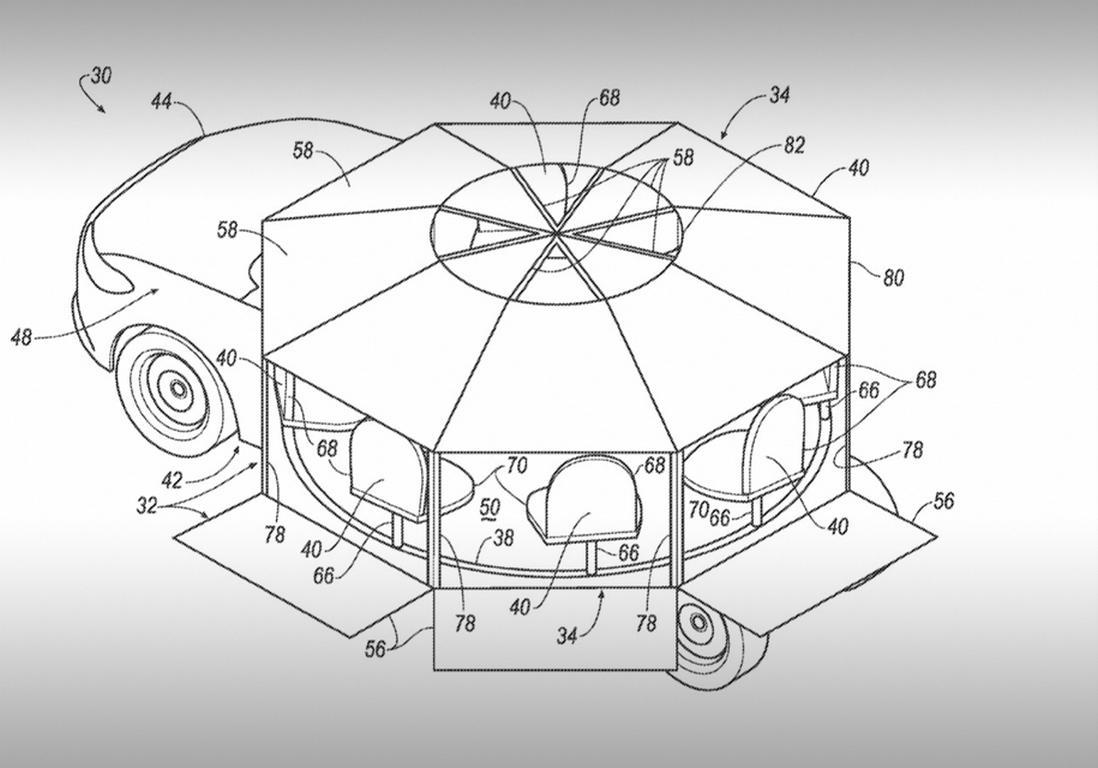 Форд запатентовал автомобиль-карусель