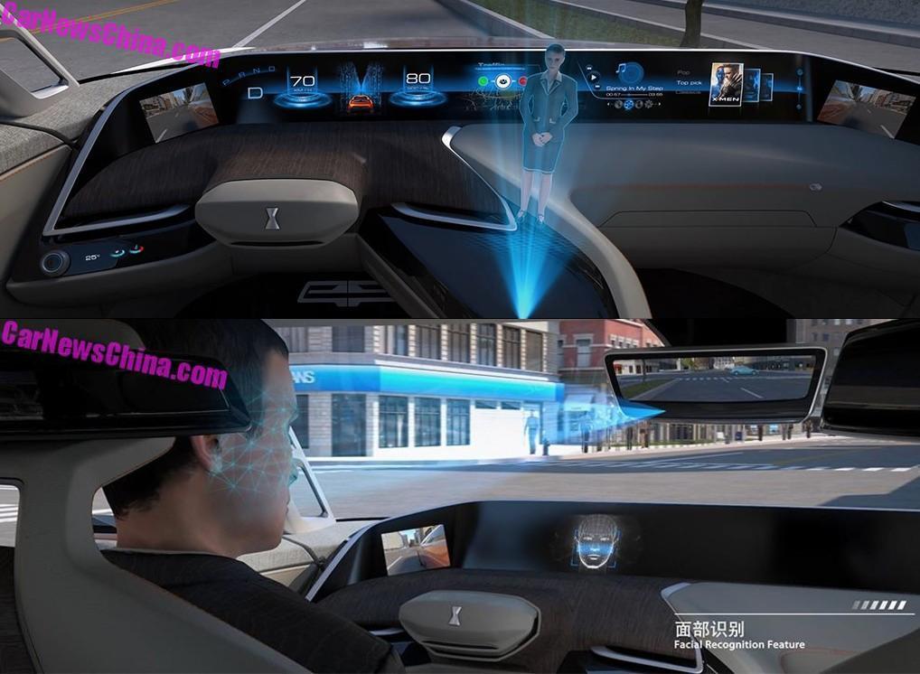 Концептуальный автомобиль WEY-X оборудовали голограммой-ассистентом