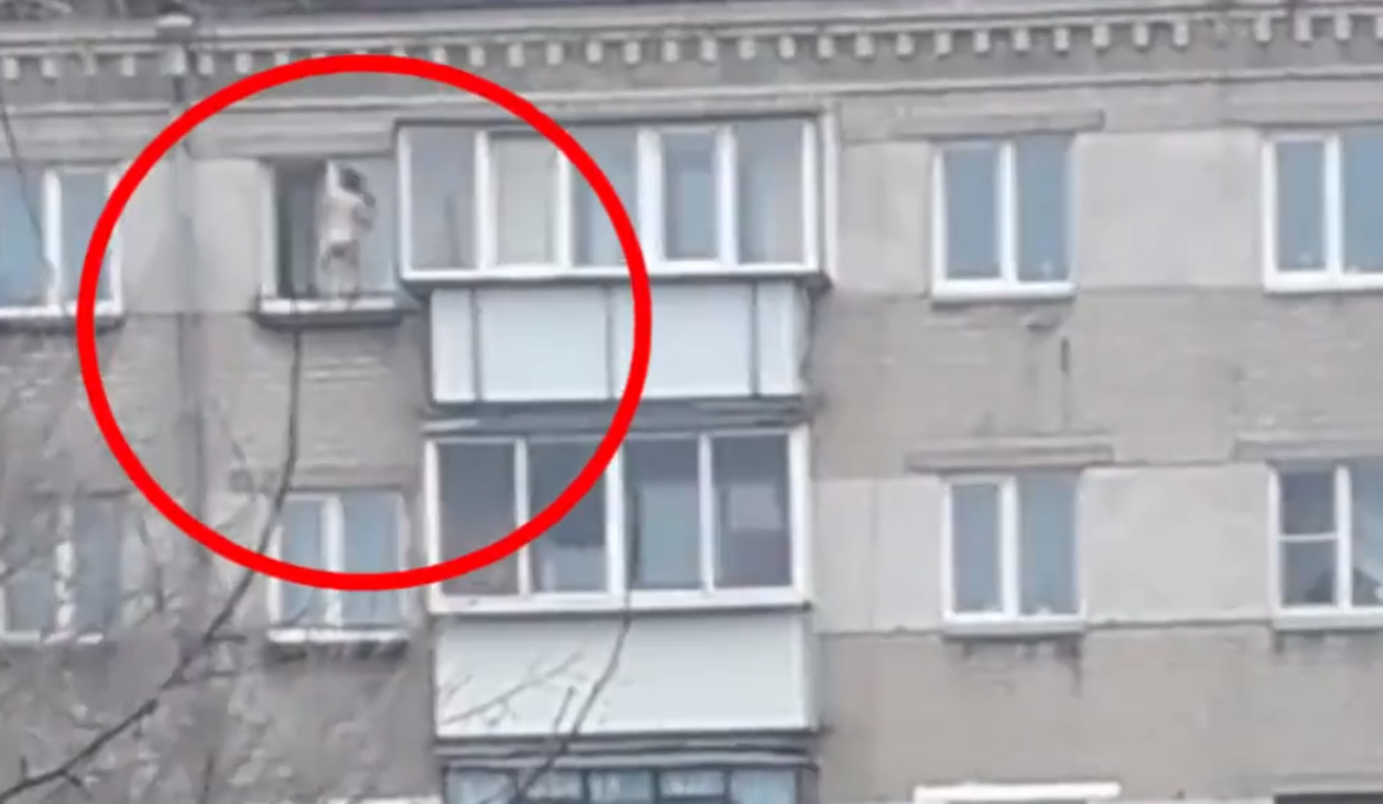 Танцующая накарнизе девочка угодила навидео вЧелябинске