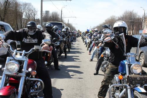 Ежегодный парад мотоциклистов пройдет в Москве 5 мая
