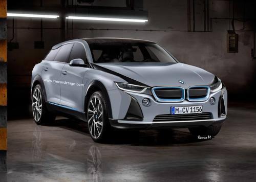 BMW опубликовала тизеры электрического кроссовера iX3