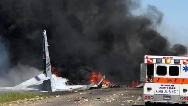 ВДжорджии разбился военно-транспортный самолет США
