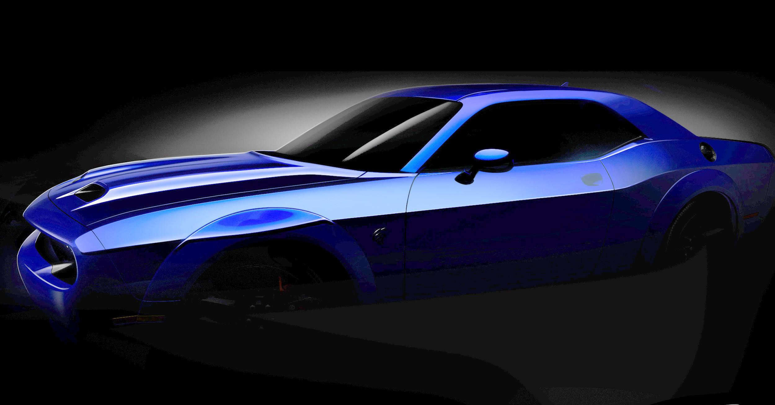 Dodge Challenger SRT Hellcat подготовили кмировому дебюту