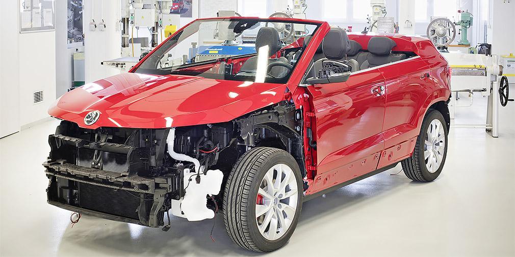 Skoda разрабатывает кабриолет наоснове кроссовера Karoq