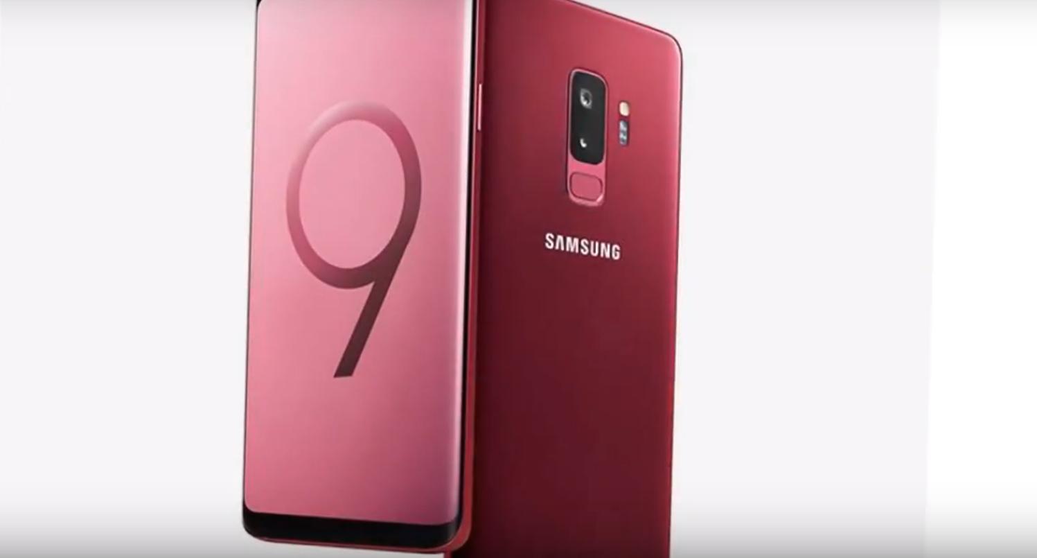 В КНР выпустили красные Самсунг S9 сгубной помадой в наборе