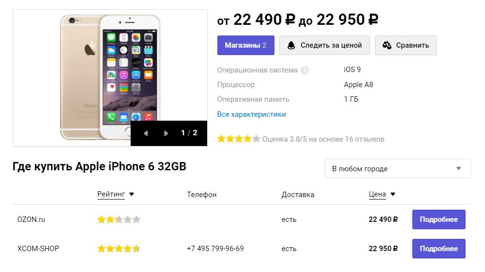 В РФ iPhone 6 безумно упали вцене