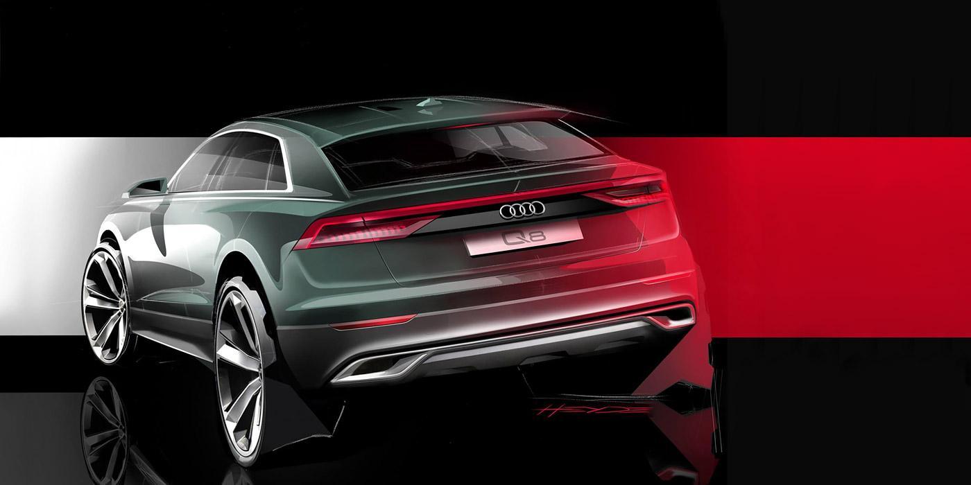 Кроссовер Audi Q8 «засветился» на официальном скетче. Автомобиль покажут этим летом