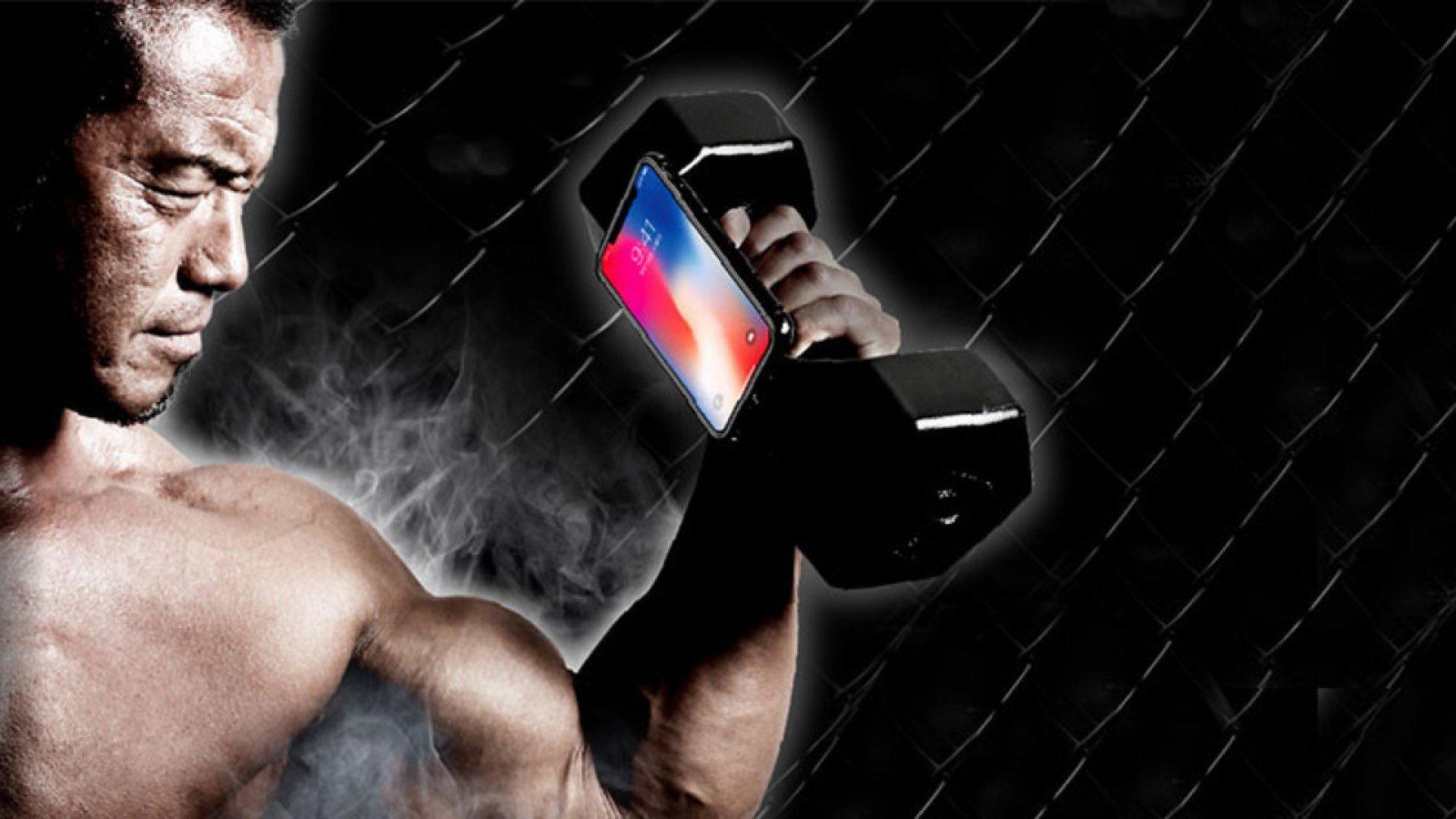 Японцы разработали 10-килограммовую гантель для iPhone X