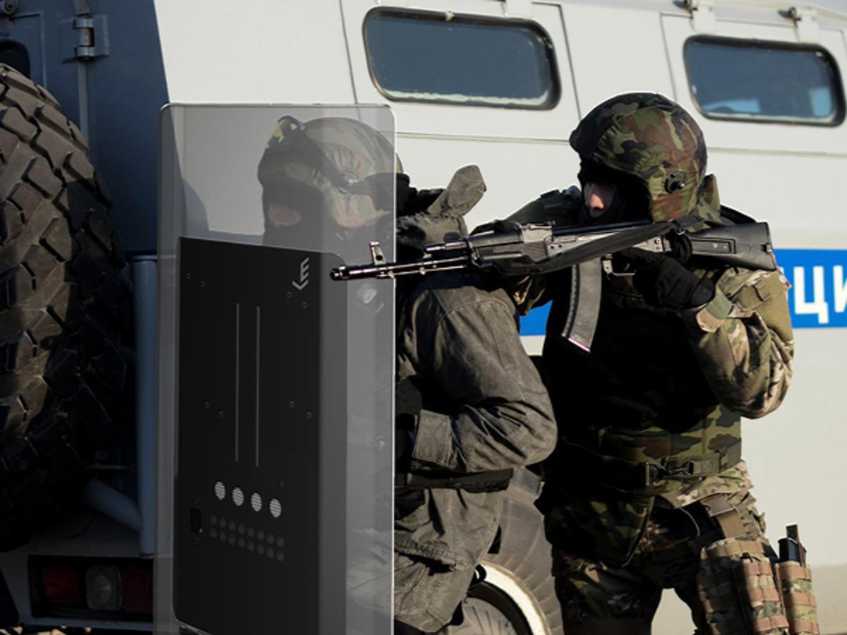 В Российской Федерации презентовали электрошоковые щиты для МВД