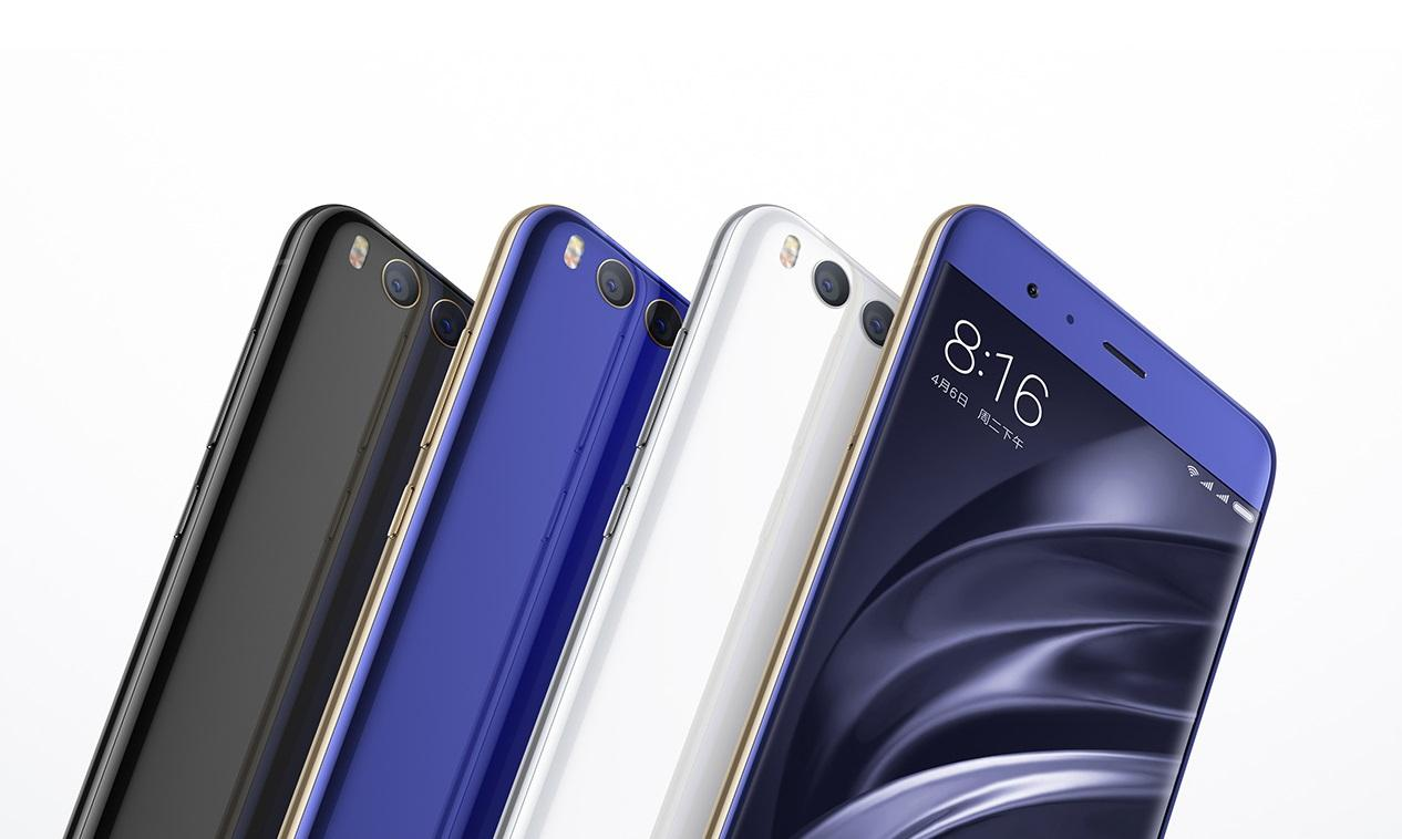 Синий ичерный Xiaomi Mi6 резко упал вцене в Российской Федерации