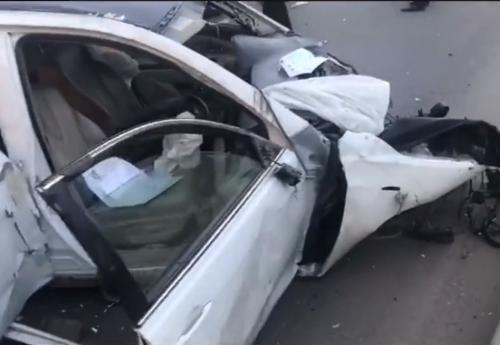 В Уфе любитель автогонок устроил страшное ДТП на проспекте Салавата Юлаева