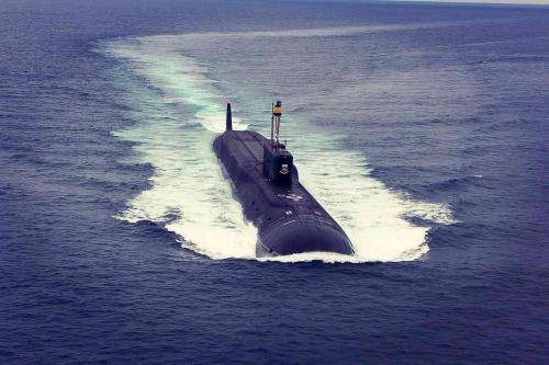 Подводный крейсер «Юрий Долгорукий» дал залп четырьмя «Булавами»