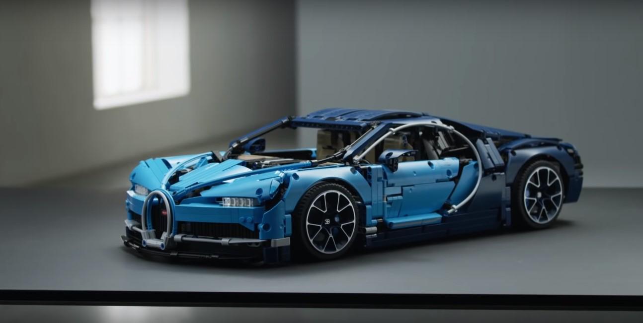 Bugatti Chiron превратили в конструктор из 3599 деталей