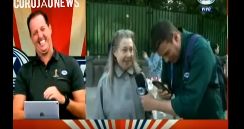 Русская бабушка угодила вэфир бразильского канала