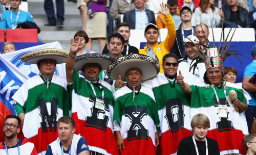 В Москве проходят массовые пляски фанатов мексиканской сборной