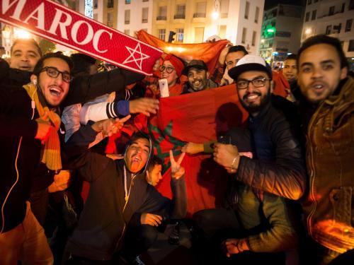 Фанаты сборной Марокко устроили веселье в центре Москвы