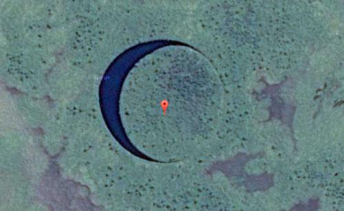 Уфологи уверены, что плавающий остров в Аргентине - это НЛО
