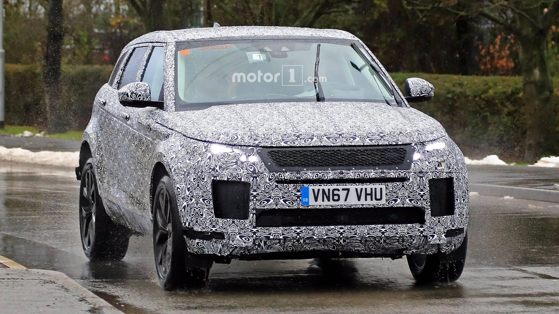 Стильный Range Rover Evoque Spied 2019 появился нашпионских фото вНюрбургринге