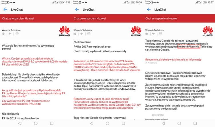 Компания Huawei раскрыла название обновленной версии андроид