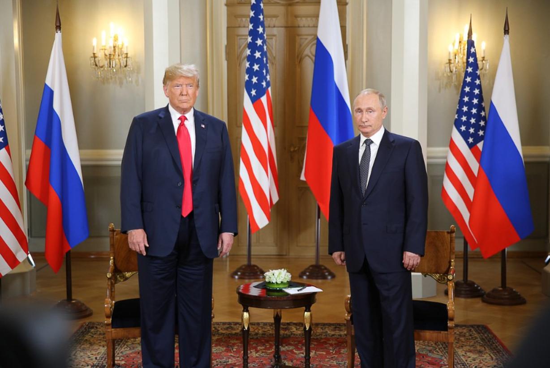 Путин иТрамп продолжают переговоры вформате рабочего завтрака