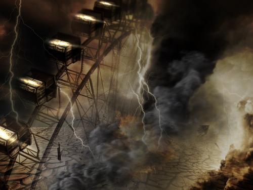 «Всадник Апокалипсиса»: В Белоруссии в небе зависло огромное черное облако
