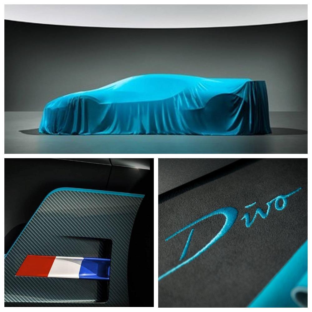 Компания Bugatti на тизере показала силуэт гиперкара за €5 млн