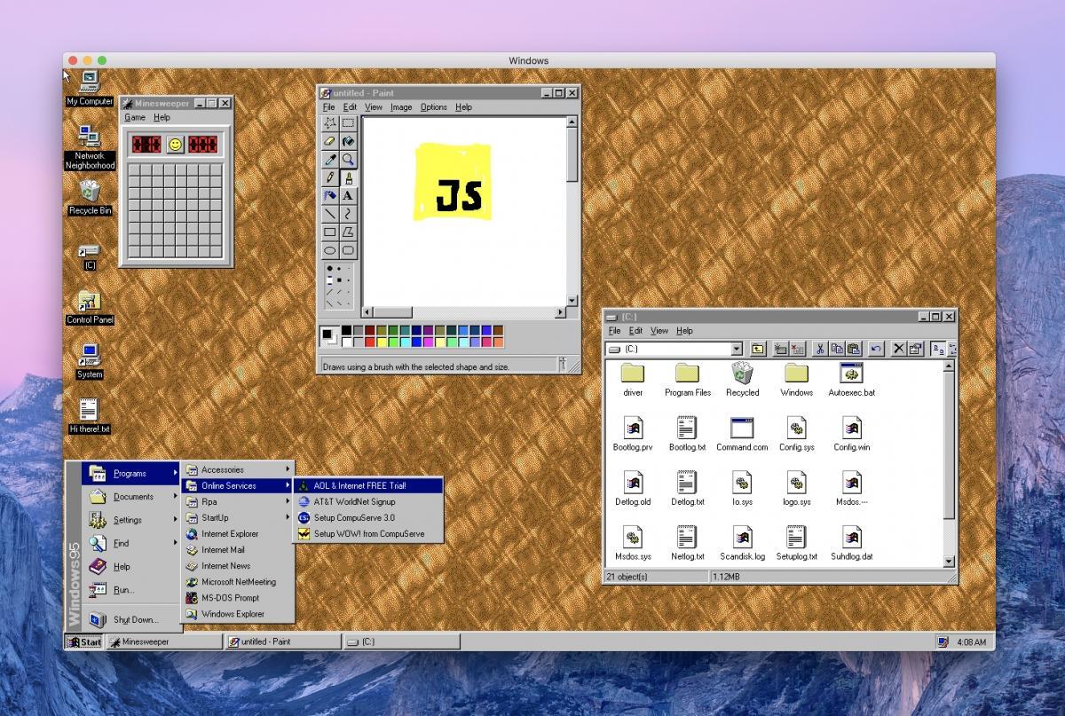 Windows 95 «воскресили» ввиде приложения