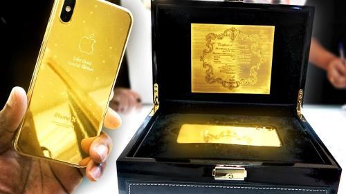 Goldgenie lanzó el dorado iPhone XS por 7.5 millones de rublos