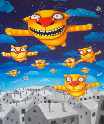 В галерее «Свиное рыло» празднуют День рождения художника Васи Ложкина