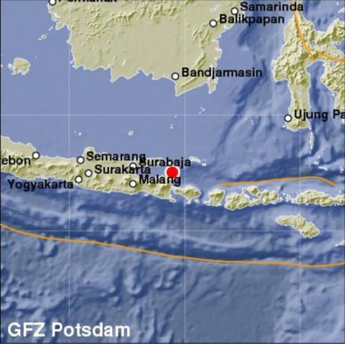 У берегов Индонезии произошло землетрясение магнитудой 6 баллов