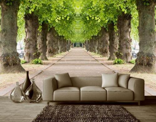 Фотообои оживляют интерьер и зрительно раздвигают стены