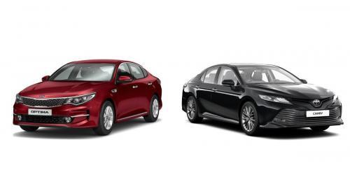 Кто комфортнее в такси? Toyota Camry и KIA Optima сравнили в сети