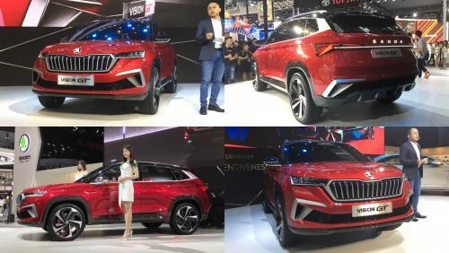 Другая платформа и другие моторы: В Китае дебютировал новый Skoda Vision GT