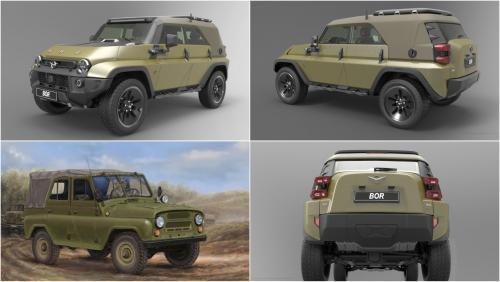 Новый дизайн легендарного УАЗ-469 показали на первых рендерах