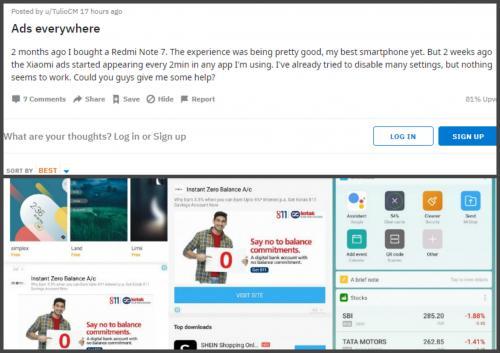 «Рекламофон»: пользователи Redmi Note 7 жалуются на засилье рекламы