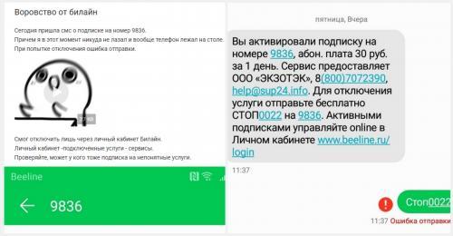 «Воровство от Билайн»: россиян подключают на неизвестные сервисы